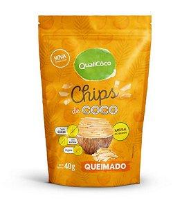 Chips de Coco Queimado QUALICO - 40g