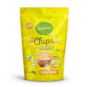 Chips de Coco Gengibre QUALICO - 40g