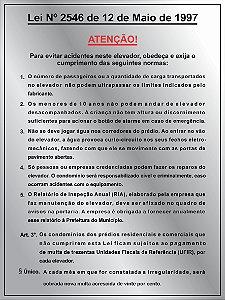 Placa de Sinalização Lei 2546 em aluminio pronta entrega 20x15