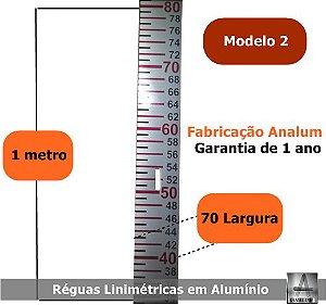 REGUAS Linimetricas - Fluviométricas-1000x70x2mm-pronta-entrega modelo 2