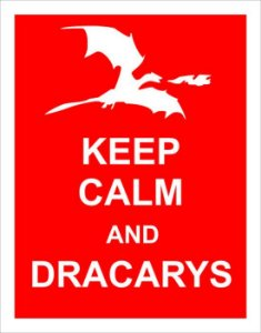 Placa Keep Calm and Dracarys