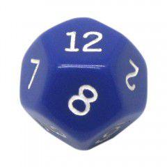 Dado 12 Lados RPG- Azul 22x22 mm
