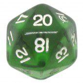 Dado 20 Lados RPG- Verde Transparente 22x22 mm