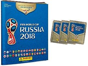 Álbum da Copa do Mundo Rússia 2018- Capa Cartão + 60 Figurinhas