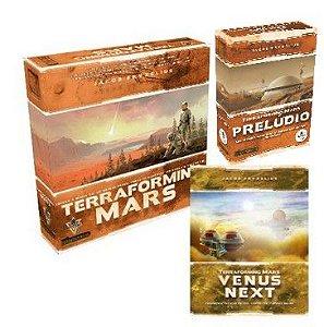 Terraforming Mars + Venus Next + Prelude+ Sleeves Grátis