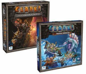 Clank! + Expansão Tesouros Submersos + Sleeves + Miniaturas 3D Exclusivos