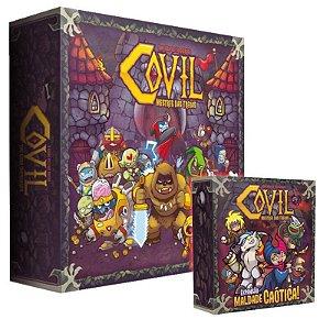 Covil: Mestre das Trevas + Expansão Maldade Caótica+Promo
