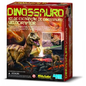 Kit de Escavação- Velociraptor- Brinquedo Educativo