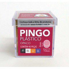 Marcador Pingo Plástico Opaco 40 Peças (Preto, Branco, Laranja e Lilás)