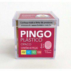 Marcador Pingo Plástico Opaco 40 Peças (Amarelo, Azul, Verde e Vermelho)