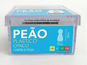 Peão Plástico 32 Peças (Amarelo, Azul, Verde e Vermelho)