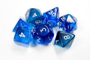 Kit de Dados RPG Azul - 7 peças