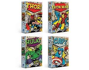 Combo 4 Quebra-Cabeças Nano - Marvel - 500 peças cada
