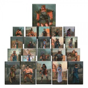 Kit com 126 Personagens de RPG - Modelo 2 + 36 Stands
