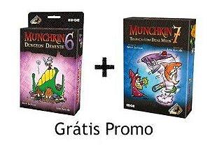 Combo Munchkin 6 e Munchkin 7 - Grátis Promo Erros Cléricos