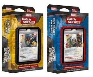 2 Decks Marvel Battle Scenes - Ofensiva Surpresa - Defensores da Terra e Investida de Clones