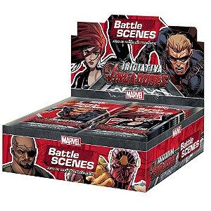 Caixa com 36 Boosters Marvel Battle Scenes - Iniciativa Vingadores