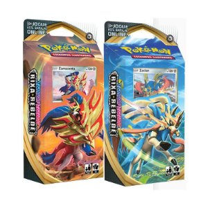 2 Decks Pokémon Espada e Escudo Rixa Rebelde Zacian e Zamazenta