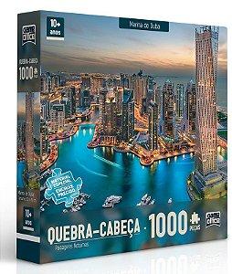 Quebra-Cabeça 1000 peças - Paisagens Noturnas - Marina de Dubai
