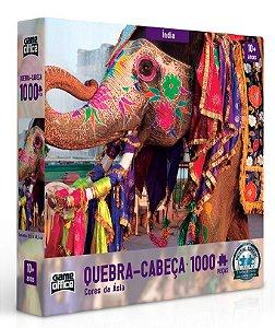 Quebra-cabeça 1000 peças - Cores da Ásia - Índia