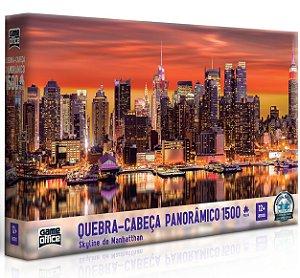 Quebra-cabeça Panorâmico 1500 peças - Skyline de Manhattan