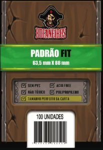 Sleeves Bucaneiros Padrão Fit (63,5x88mm) - Perfect Size