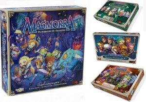Combo Masmorra Dungeons of Arcadia + Adventurers Set + Crossover Kit + Monster Dice Set + Sleeves Grátis
