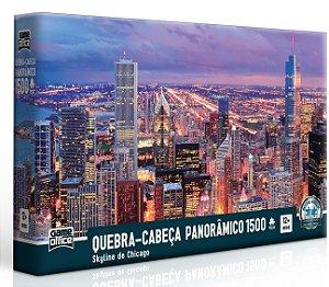 Quebra-cabeça Panorâmico 1500 peças - Skyline de Chicago