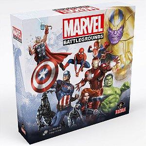 Marvel Battlegrounds + Sleeves + 1 Mini Marvel 500(Pré-venda)
