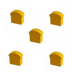 Pão de Forma (Peça em Madeira) - Kit com 5 unidades