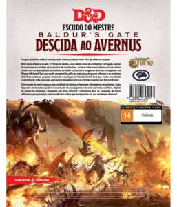 Dungeons & Dragons - Escudo do Mestre Baldur's Gate - Descida ao Avernus