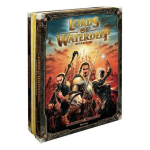 D&D Lords of Waterdeep + Kit de Miniaturas 3D + Sleeves Grátis