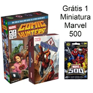 Comic Hunters + Spider-Web + Miniatura Marvel 500