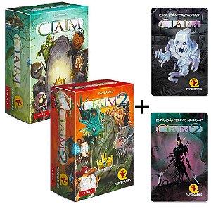 Claim + Claim 2 + Expansão Fantasmas + Expansão Elfos Negros
