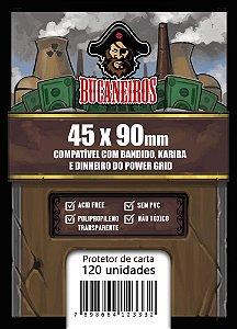 Sleeves Bucaneiros Customizado - Bandido/Kariba/Dinheiro Power Grid - 45 x 90mm