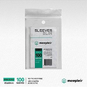 Sleeves MeepleBR Slim Mini Euro 45 x 68 mm