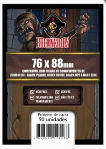 Sleeves Customizado - Fichas de Sobrevivente Zombicide Black Plague / Green Horde / Black Ops / Dark Side / Invader (76x88)