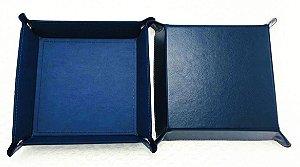 Bandeja de Dados - Couro Sintético Azul