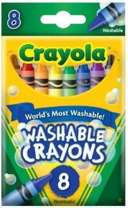 Giz de Cera Lavável 8 cores Crayola - Pequeno