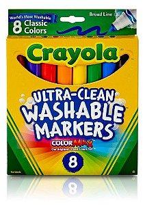 Canetinha Super Lavável Crayola 8 cores