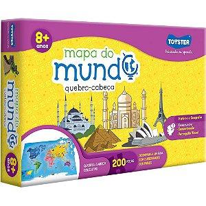 QUEBRA CABEÇA MAPA DO MUNDO - 200 PEÇAS