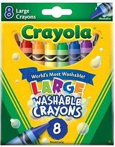 Giz de Cera Lavável 8 cores Crayola - Grande