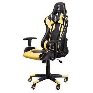 Cadeira Gamer Phantom Preta com Amarelo - Gshield