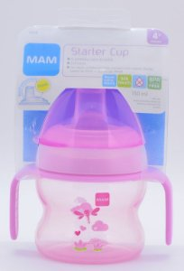 Copo MAM Starter Cup Rosa 4+ meses