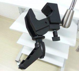 Garra de aperto para segurar a bobina no braço de fixação