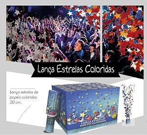 Lança Estrelas de Papel Colorido - 30 cm