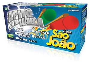 Apito com Vara Folha Seca - Caixa 10 Dz.