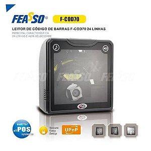 LEITOR DE COD DE BARRAS DE MESA F-COD70 24 LINHAS FEASSO