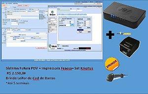 Kit Futura Cash PDV+ Sat + Impressora Feasso+ Leitor Feasso de Brinde