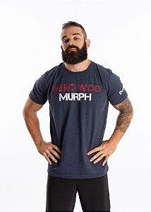 T-Shirt Casal Wod - MURPH - Azul Escura